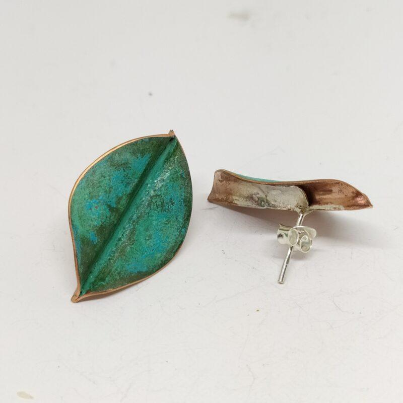 Pendientes hojas pequeñas